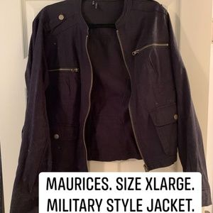 Black Military Style Jacket